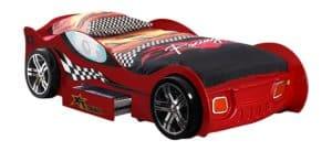 Kinderbett rot in Autodesign und Schubfach