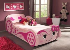 Autobett Mädchen in rosa/pink